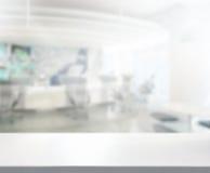 Stołowego wierzchołka I plamy biura tło Obraz Stock
