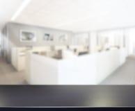 Stołowego wierzchołka I plamy biura tło Obraz Royalty Free