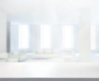 Stołowego wierzchołka I plamy biura tło Fotografia Stock