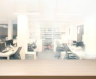 Stołowego wierzchołka I plamy biuro tło Obraz Royalty Free