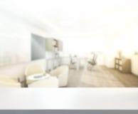 Stołowego wierzchołka I plamy biuro tło Zdjęcie Stock