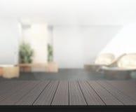 Stołowego wierzchołka I plamy biuro tło Obrazy Stock