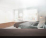 Stołowego wierzchołka I plamy tło W sypialni Obrazy Stock