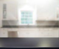 Stołowego wierzchołka I plamy wnętrza tło Fotografia Stock
