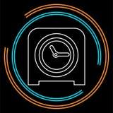 Stołowego zegaru ikona, zegaru alarm ilustracja wektor