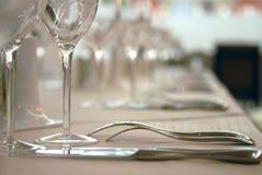stołowi restauracja artykuły Fotografia Stock