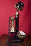stołowy candlestick telefon zdjęcie royalty free