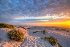 Stołowy góry plaży zmierzch Zdjęcie Stock