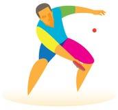 Stołowy gracz w tenisa Obrazy Stock