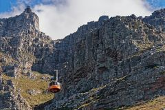 Stołowy Halny wagon kolei linowej, Kapsztad Południowa Afryka fotografia stock