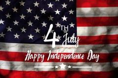 Stołowy odgórnego widoku powietrzny wizerunek 4th Lipa dnia niepodległości tła wakacyjny pojęcie Zdjęcie Stock