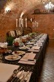 Stołowy położenie dla kulinarnej lekci Zdjęcie Royalty Free