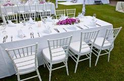 Stołowy położenie dla wydarzenia wesela lub przyjęcia zdjęcie stock