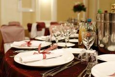 stołowy przygotowania ślub Fotografia Royalty Free