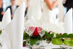 stołowy uczta ślub zdjęcie royalty free