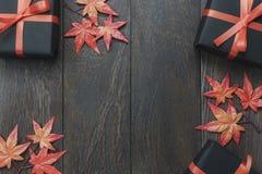 Stołowy wierzchołek dekoracja znaka festiwalu Szczęśliwy Halloweenowy tło Zdjęcie Royalty Free