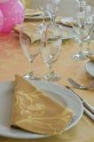 Stołu set dla wydarzenia przyjęcia. Zdjęcie Royalty Free