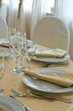 Stołu set dla wydarzenia przyjęcia. Zdjęcia Royalty Free