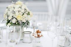 Stołu set dla wydarzenia wesela lub przyjęcia Zdjęcia Royalty Free