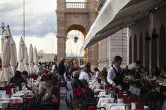 Stoły kawowy bar, Trieste obraz royalty free