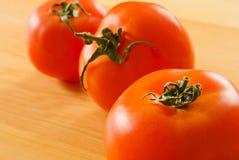 stołów pomidory trzy Zdjęcia Stock