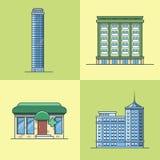 Sto лекарства фармации дома гостиницы небоскреба городка города Стоковое Изображение