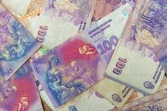 Sto argentinians peso rachunków zdjęcia royalty free