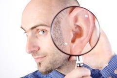 Sto ascoltando Fotografia Stock