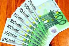 sto banknotów euro Zdjęcie Royalty Free