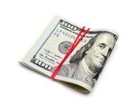 Sto dolarów banknotów Obrazy Stock
