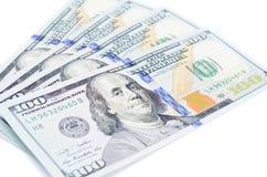 Sto dolarów banknotów Obraz Royalty Free