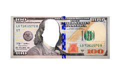 Sto dolarów banknotów bez twarzy Obrazy Stock