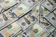 Sto dolarów banknotu tła nowego 2013 wydania Feng Shui zdjęcie stock