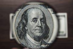 Sto dolarów banknotu uwierzytelnienia Obrazy Royalty Free