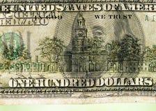 Sto dolarów tło tekstury Zdjęcie Stock