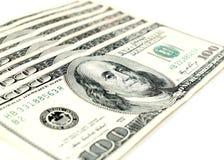 Sto Dolarowych rachunków Zdjęcia Royalty Free