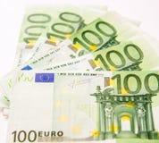 Sto euro walut banknotów Obrazy Royalty Free