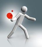 Stołowego tenisa 3D symbol, Olimpijscy sporty Fotografia Stock