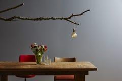 Stołowej i lampowej sceny projekta rocznika miastowa dekoracja Zdjęcie Stock