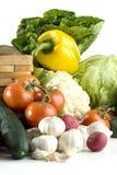 stołowi warzywa biali Obrazy Royalty Free
