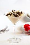 stołowy deseru biel Obraz Royalty Free