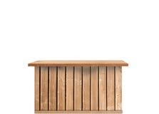 Stołowy drewno Zdjęcie Royalty Free