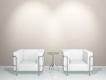 stołowy kanapa biel Zdjęcia Royalty Free