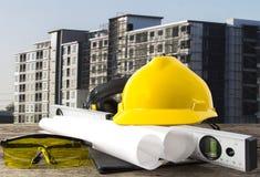 Stołowy plan i projekt przy hotelem Obrazy Stock