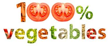 Sto procentów Naturalni warzywa Fotografia Stock