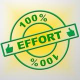 Sto procentów wysiłek Pokazuje łokcia tłuszcz I Całkowicie ilustracji