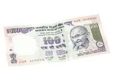 Sto rupii notatek (Indiańska waluta) Obrazy Royalty Free