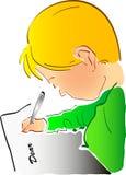 Sto scrivendo voi Immagini Stock