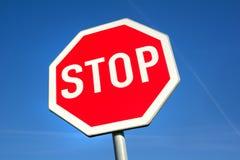 Sto-Verkehrszeichen Stockfotografie