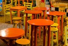 Stoły i stolec Fotografia Royalty Free